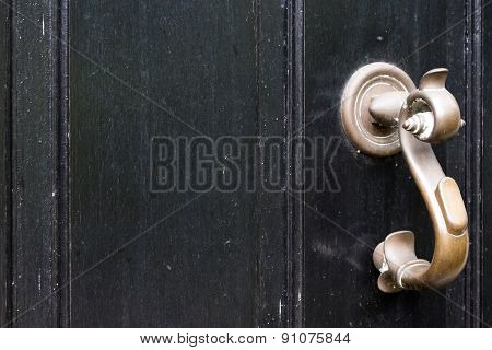 Black Door With Handle