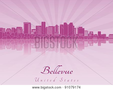 Bellevue Skyline In Purple Radiant Orchid