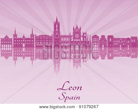 Leon Skyline In Purple Radiant Orchid