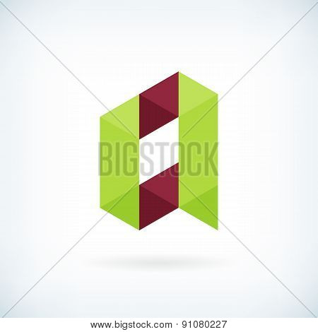 Modern Letter A Icon Flat Design Element Template