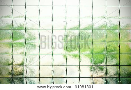 Abstract Background Made Of Glass With Grating.