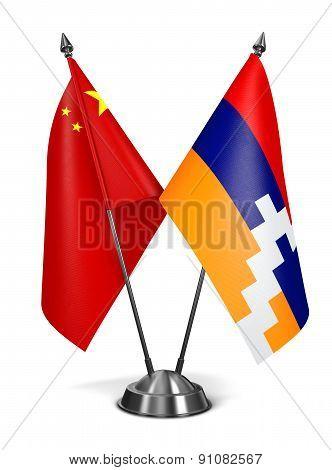 China and Nagorno-Karabakh - Miniature Flags.