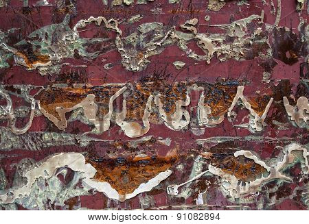 Abstract old rusty wall background