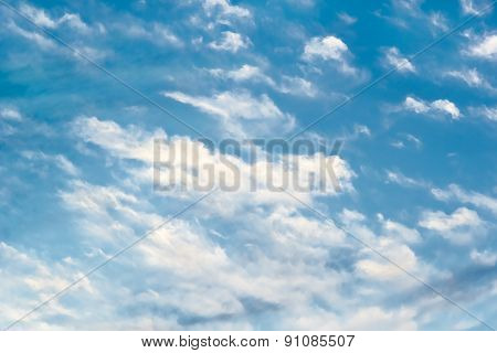 Picturesque Clouds In The Blue Sky