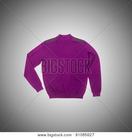 Male sweater isolated on the white