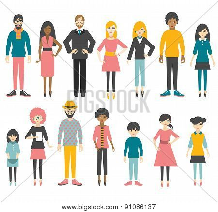 Collection Of Flat People Figures.