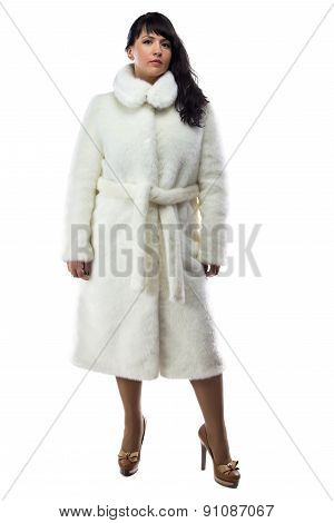 Photo of woman in long fur coat