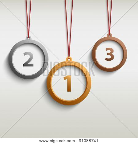 Medal Gold Silver Bronze Template