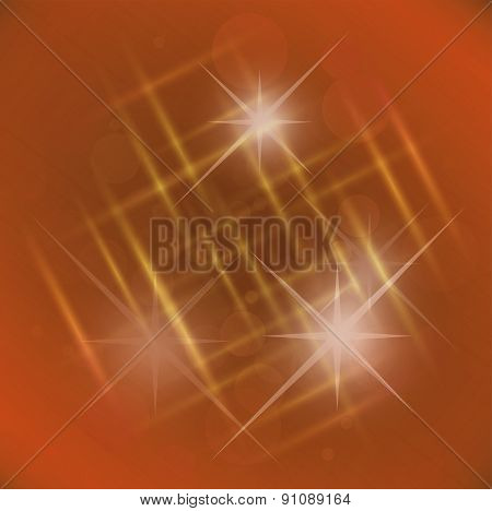 Abstract elegance orange background with star