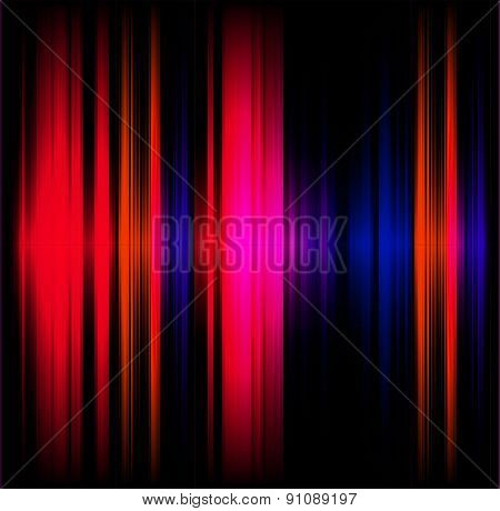 Abstract light effect music red and black background