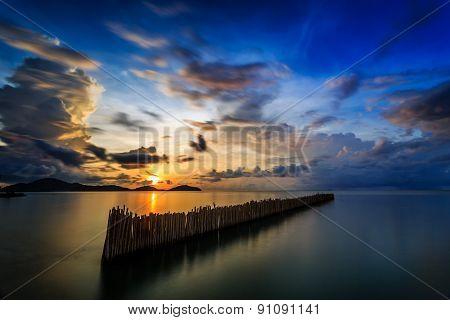 Long Exposure Of Sunrise In Phuket, Thailand
