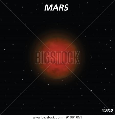 Mars planet - Illustration