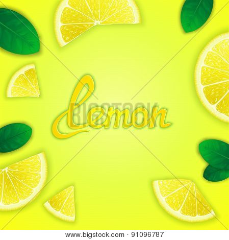 Fruity lemon background