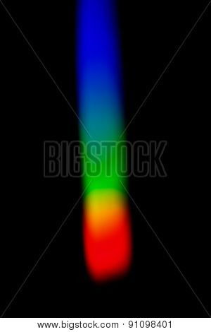 Colorful Spectrum Of Solar Light