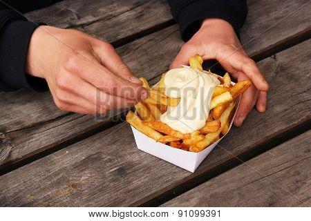 Belgian pommes frites