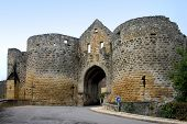 picture of domme  - porte des tours in domme dordogne  - JPG