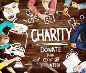 picture of charity relief work  - Charity Donate Help Give Saving Sharing Support Volunteer Concept - JPG