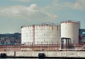 pic of genova  - detail of a chemical plant in the harbour of Genova - JPG