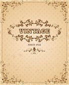 picture of nostalgic  - Retro style aged paper ornate nostalgic vintage cover poster decorative design ink sepia abstract vector illustration - JPG
