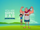 picture of special day  - Cute little kid swinging to hold his Super Dad arm - JPG