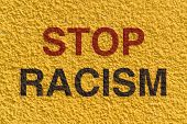 image of racial discrimination  - Appeal to stop racism and achieve equality among the races in the world - JPG