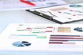 picture of budget  - colorful graphs charts marketing research and business annual report background management project budget planning financial and education concepts - JPG