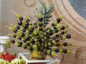 stock photo of fruits  - Carved fruits arrangement - JPG