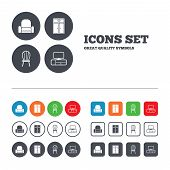 stock photo of tv sets  - Furniture icons - JPG