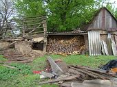picture of firewood  - firewood choppedfolded - JPG