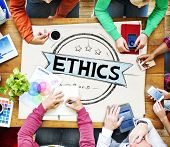 image of ethics  - Ethics Integrity Fairness Ideals Behavior Values Concept - JPG