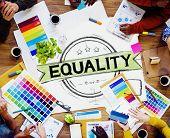 foto of equality  - Equality Balance Discrimination Equal Moral Concept - JPG