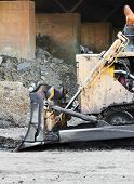 picture of bulldozer  - Part of bulldozer track in construction site - JPG