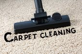 foto of carpet  - Image of carpet and brush with title - JPG