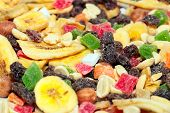 pic of dry fruit  - pile of dried fruit as part of the food - JPG
