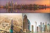 pic of marina  - Collage of the beauty panorama at Dubai marina - JPG
