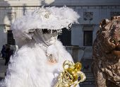 stock photo of venice carnival  - Carnival of Venice beautiful masks at St - JPG