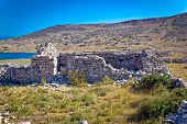 stock photo of luka  - Island of Krk old stone ruins Croatia - JPG