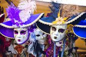 picture of venice carnival  - Venetian masks in store display in Venice - JPG