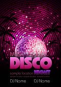 Постер, плакат: Disco Background Disco Poster