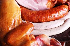 stock photo of deli  - Assortment of deli meats - JPG