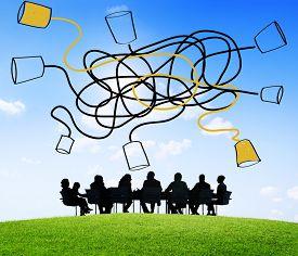 stock photo of communication  - Communicate Communication Telecommunication Connection Calling Concept - JPG