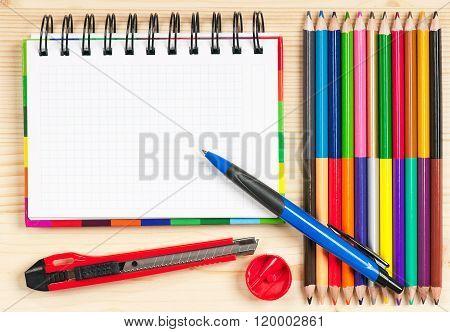 Bright Colorful Pencils