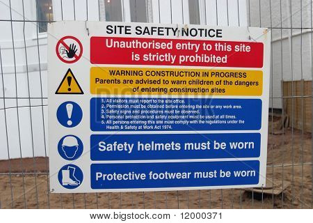Sign, Construction Site