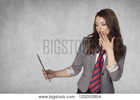 Business Woman Shocked So Many Bribes