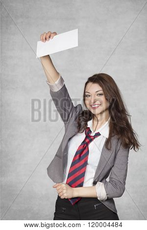 Business Woman With A Bribe In Hand
