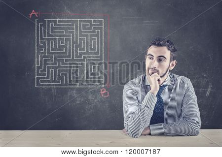 Blackboard And A Maze