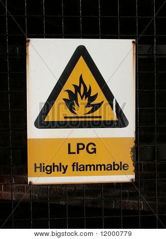 Sign, LPG _ Highly Inflammable