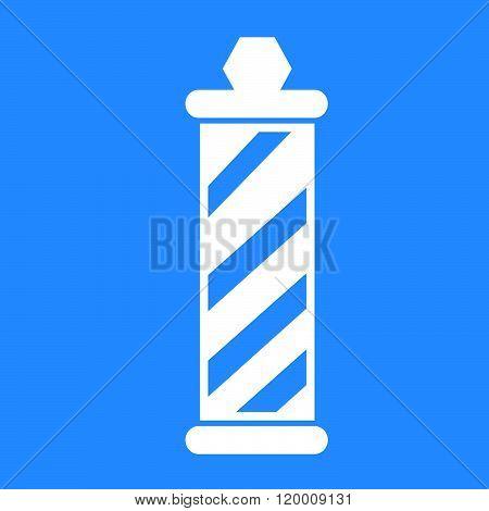 an images of barber shop pole Icon Illustration design