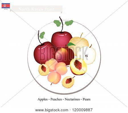 Apple, Peach, Nectaeines, Pear Are Popular Fruits In North Korea