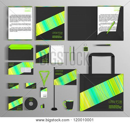 Corporate Identity set with abstract ornament.